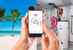 Mit speziellen Apps können Sie die smarte Heizung auch im Urlaub steuern.